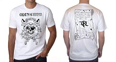 Camiseta Branca - Odin´s Krieger Fest 2017 - Invasão Pirata OFICIAL