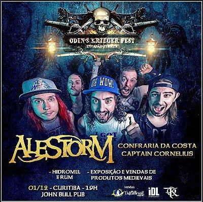 Ingresso - Curitiba - Odin´s Krieger Fest - Alestorm