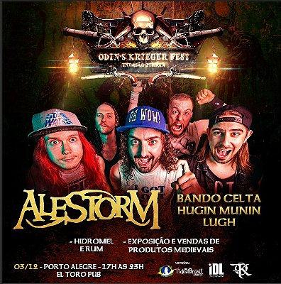 Ingresso - Porto Alegre - Odin´s Krieger Fest - Alestorm
