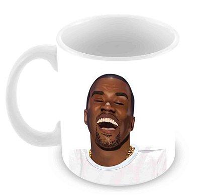 Caneca Branca - Kimoji - Kanye Face