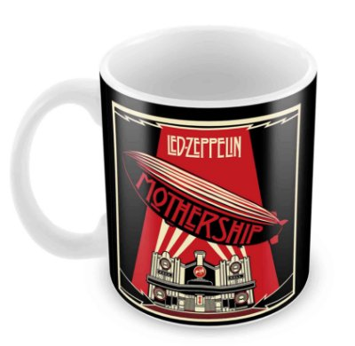Caneca Branca - Led Zeppelin - Mothership