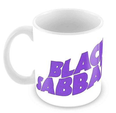 Caneca Branca - Black Sabbath