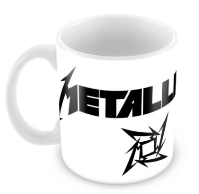 Caneca Branca - Metallica