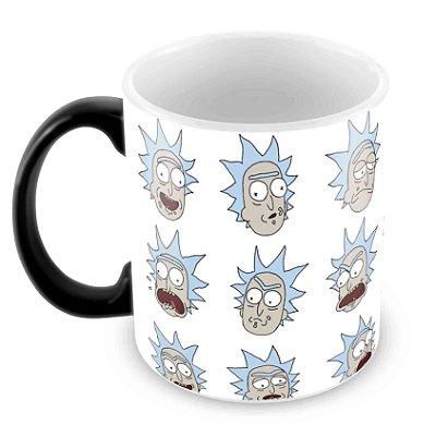 Caneca Mágica - Rick e Morty - Faces