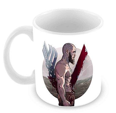 Caneca Branca - Vikings - Ragnar