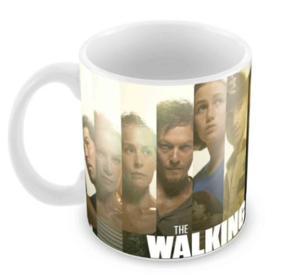 Caneca Branca - The Walking Dead - Elenco 2
