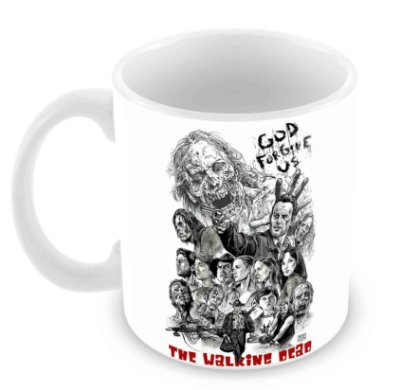 Caneca Branca - The Walking Dead - God