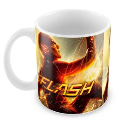 Caneca Branca - The Flash - Double