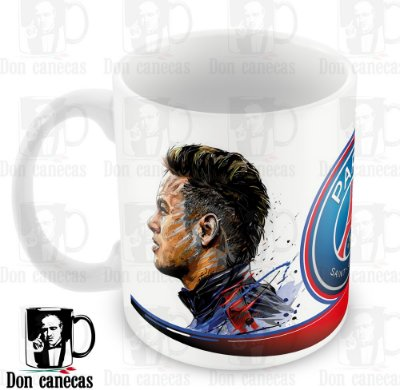 Caneca Branca - PSG - Neymar
