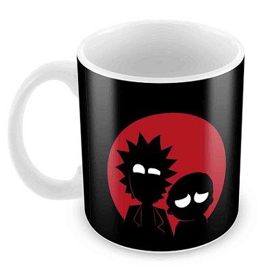 Caneca Branca - Rick e Morty - Escuro