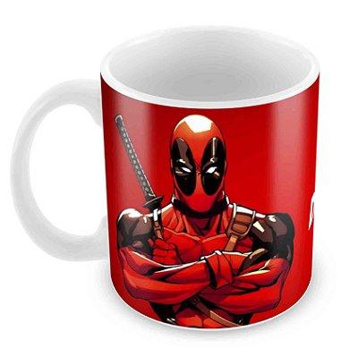 Caneca Branca - Deadpool - Logo