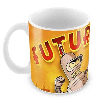 Caneca Branca - Futurama - Logo