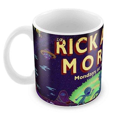Caneca Branca - Rick e Morty - Logo