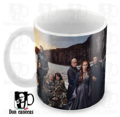 Caneca Branca - Game of Thrones - Elenco - Oferta Única