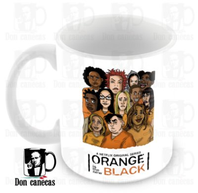 Caneca Branca - Orange is the New Black - Caricatura - Oferta Única