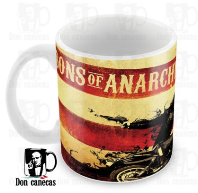 Caneca Branca - Sons of Anarchy - Jax - Oferta Única