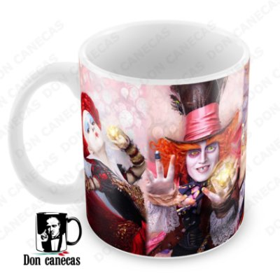 Caneca Branca - Alice Through Glass - Oferta Única