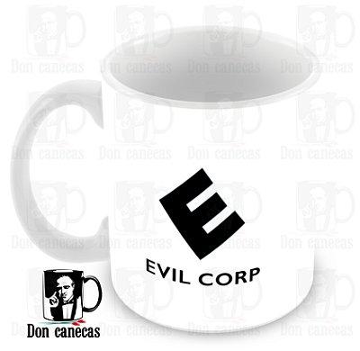 Caneca Branca - Mr Robot - Evil Corp - Oferta Única