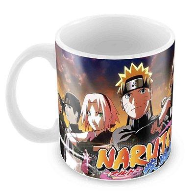 Caneca Branca - Naruto