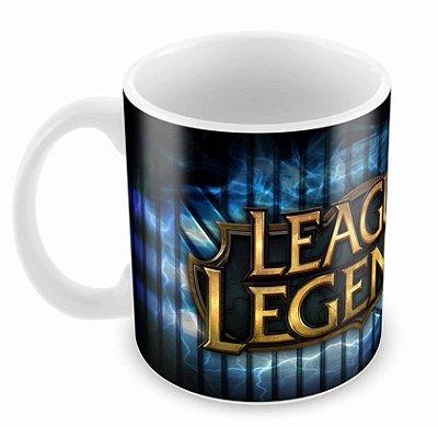 Caneca Branca - League of Legends - Logo B