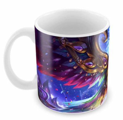 Caneca Branca - League of Legends - Agui