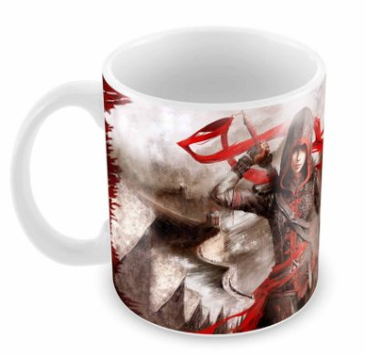 Caneca Branca - Assassins Creed - Woman
