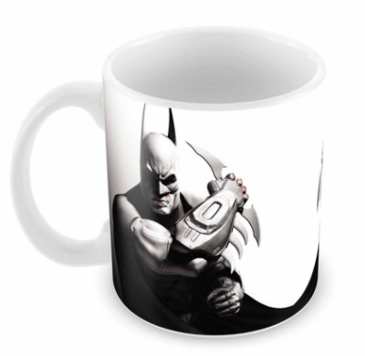 Caneca Branca - Batman - Doble