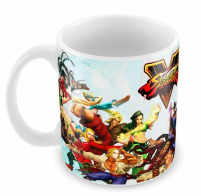 Caneca Branca - Street Fighter V