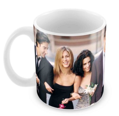 Caneca Branca - Friends - Elenco