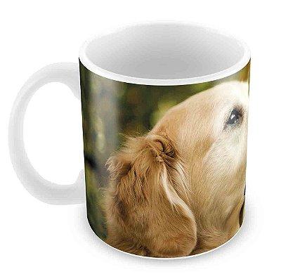 Caneca Branca - Cachorro e Borboleta