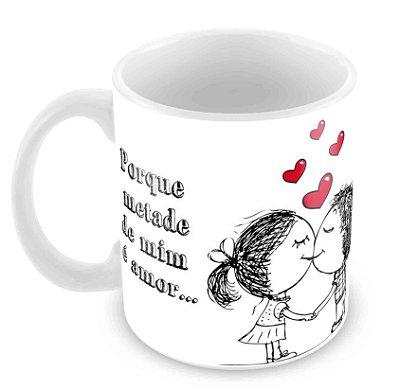 Caneca Branca Dia dos Namorados - Mod 08