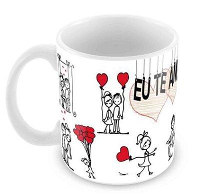 Caneca Branca Dia dos Namorados - Mod 14