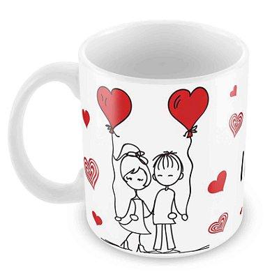 Caneca Branca Dia dos Namorados - Mod 23