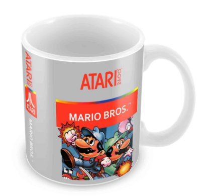 Caneca Branca - Atari - Mario