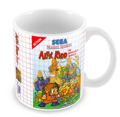 Caneca Branca - Master System - Alex Kidd Miracle