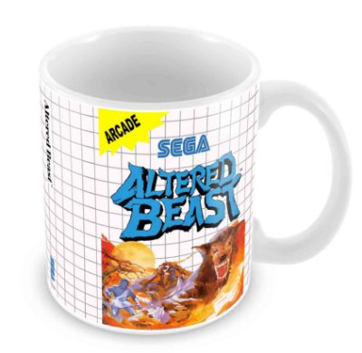 Caneca Branca - Master System - Altered Beast