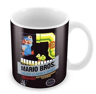 Caneca Branca - NES - Mario