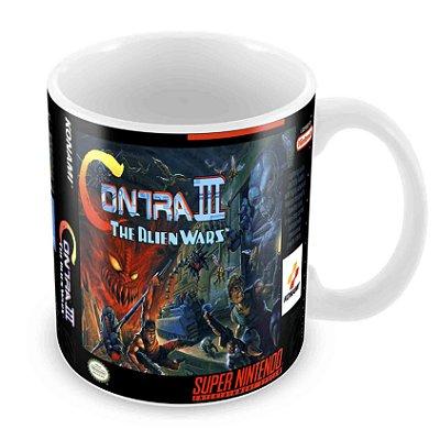 Caneca Branca - SNES - Contra III