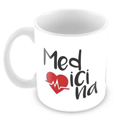 Caneca Branca - Profissões - Medicina