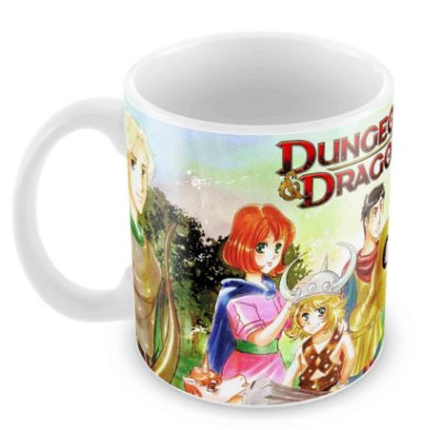 Caneca Branca - RPG - Dungeons and Dragons