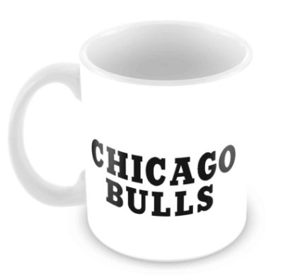 Caneca Branca - NBA - Chicago Bulls