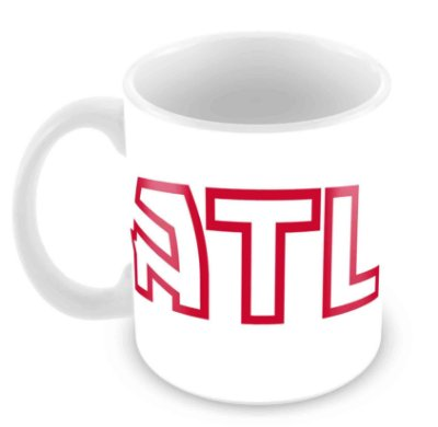 Caneca Branca - NBA - Atlanta Halks