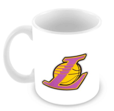 Caneca Branca - NBA - Los Angeles Lakers