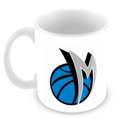 Caneca Branca - NBA - Dallas Mavericks