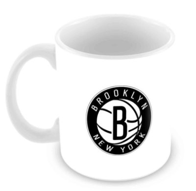 Caneca Branca - NBA - Brooklin Nets