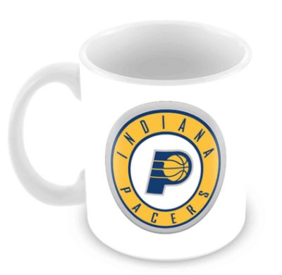 Caneca Branca - NBA - Indiana Pacers