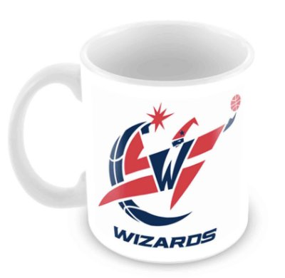 Caneca Branca - NBA - Washington Wizards