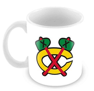Caneca Branca - NHL - Blackhawks