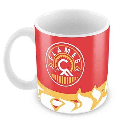 Caneca Branca - NHL - Flames