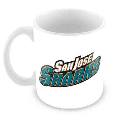 Caneca Branca - NHL - Sharks